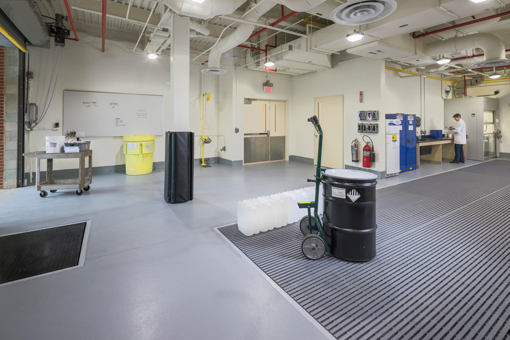 Waste management storage room